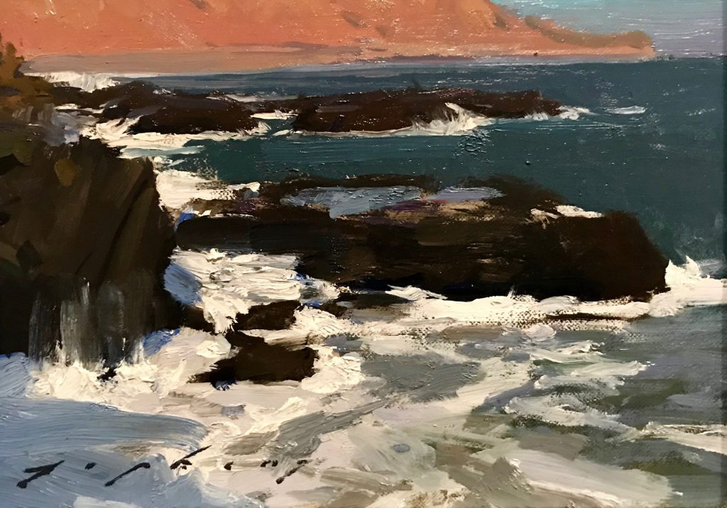 "Jeremy Lipking, ""Malibu Tide Pools"" Oil on linen"