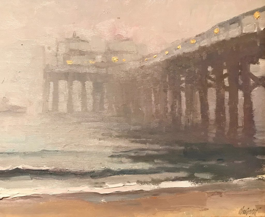 "Michael Obermeyer, ""In a Fog"" Oil on canvas"