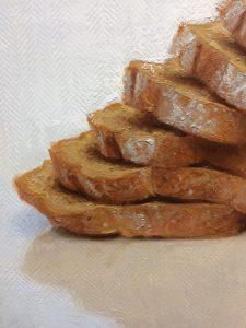 "Conor Walton. ""Honey & Spelt Loaf"", Oil on Linen"