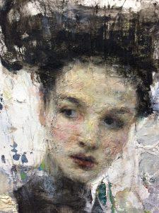 "Ron Hicks, ""Pragmatic One"", Oil on Panel"