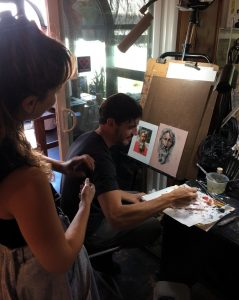 Aaron Westerberg Assisting Guests at his Workshop Guests at Pastimes for a Lifetime