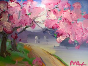 Peter Max Cherry Blossoms at Park West Onboard Art Auction