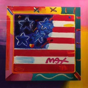Peter Max American Flag at Park West Onboard Art Auction