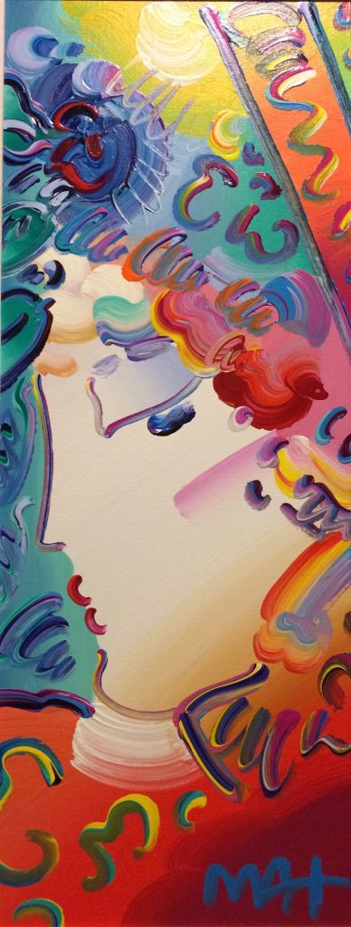 Peter Max Lady Profile at Park West On Board Auction